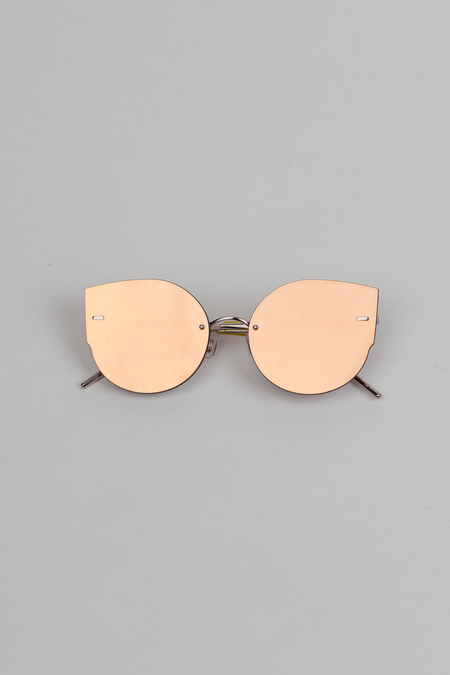 Gentle Monster Ami Adam Cat Eye Sunglasses - Rose Gold/Pink
