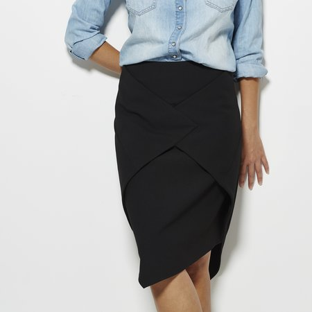Tibi Anson Stretch Skirt - BLACK
