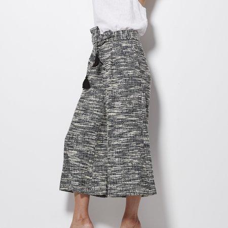 Apiece Apart Baja Tie Waist Culotte - Tweed