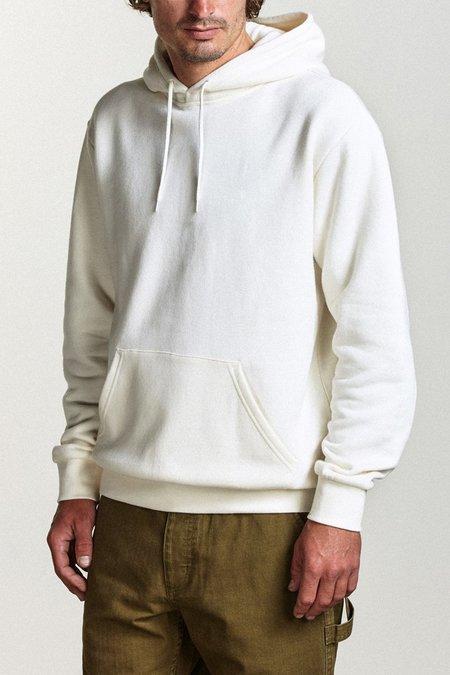 Brixton Basic Hood Fleece Sweatshirt - Off White