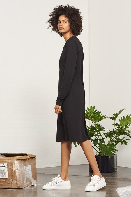 Kowtow Building Block Long Sleeve Dress - Black