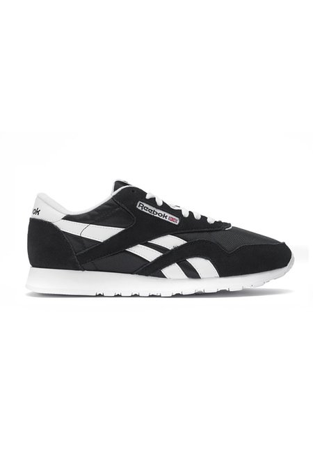 Reebok Classic Nylon Sneakers - Black/White