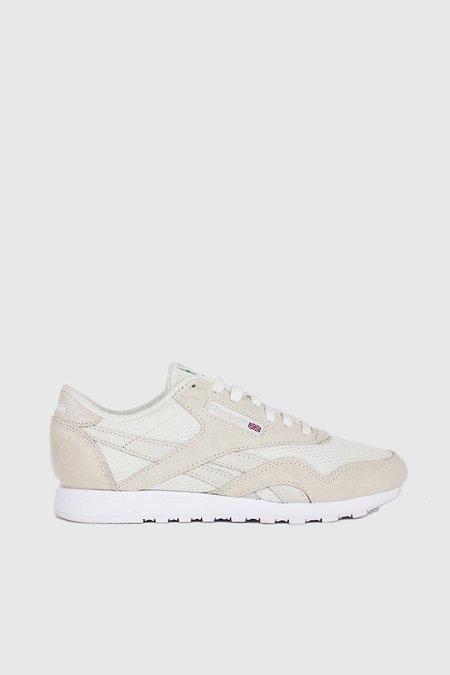 Reebok Classic Nylon FBT Sneakers - Chalk / White / Skull Grey / Green Flash