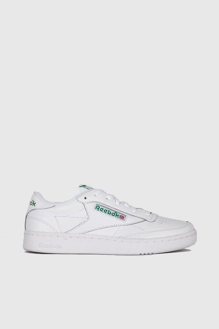 ... Reebok Club C 85 Archive Sneakers - White Glen Green Excellent Red e6b6086d2