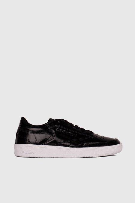 Reebok Club C 85 Patent Sneakers - Black/White