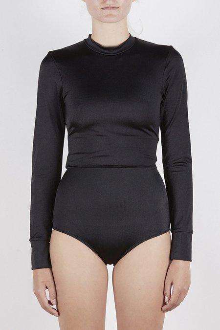 Lonely Swim Daphne Crop Top - Shiny Black