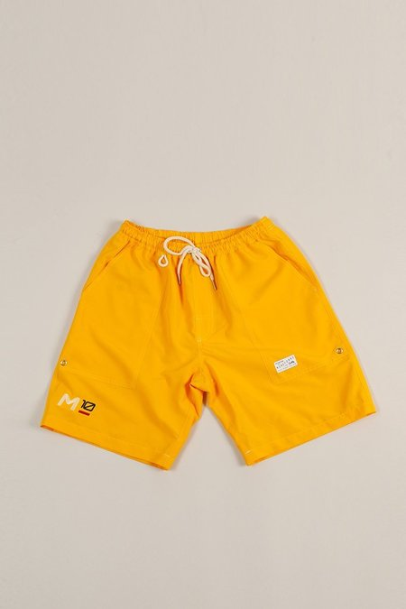 Moreporks MP-800-M3 Embroidered Sailing Shorts - Gold