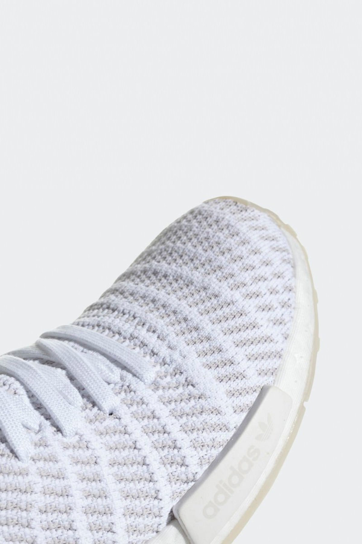 ebb3eafc429 Adidas Originals NMD R1 STLT Primeknit Sneakers - White Grey One ...