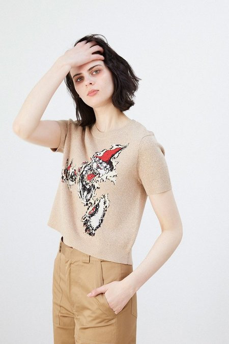 Lonely Panther Tee - Tan