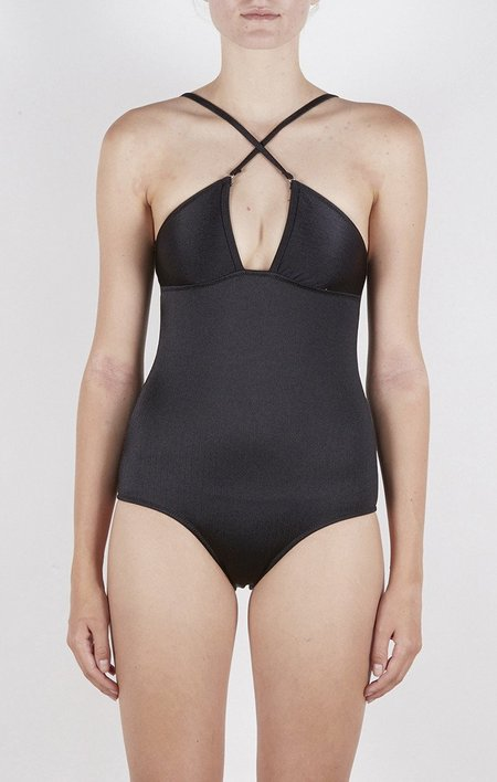 Lonely Swim Penny Swimsuit - Shiny Black