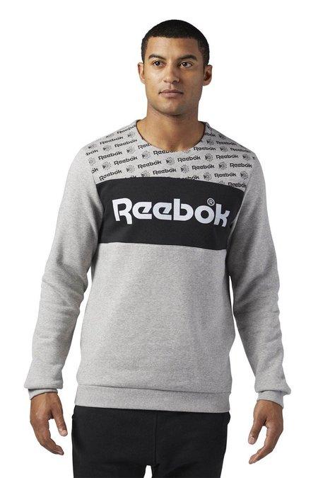 Reebok Classics Graphic Crewneck Sweatshirt - Medium Grey Heather