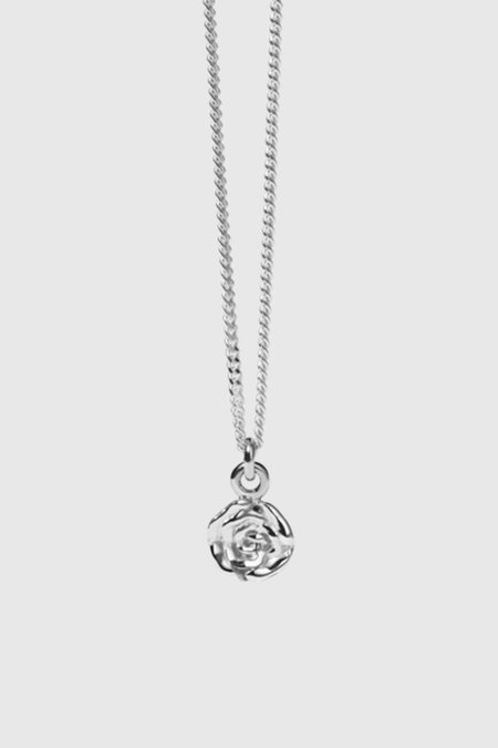 Meadowlark Rose Charm Necklace - Sterling Silver