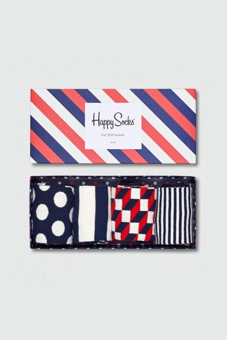Unisex Happy Socks Stripe Socks Gift Box