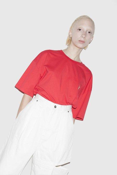 Unisex Perks & Mini Supima Pocket Tee - Red