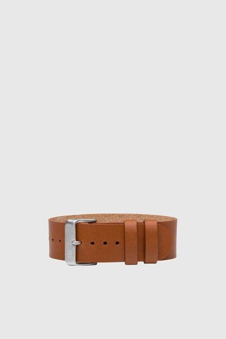 TID Watches Leather Wristband - Tan/Steel