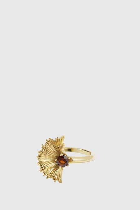 Meadowlark Vita Ring - Gold Plated/Thai Garnet