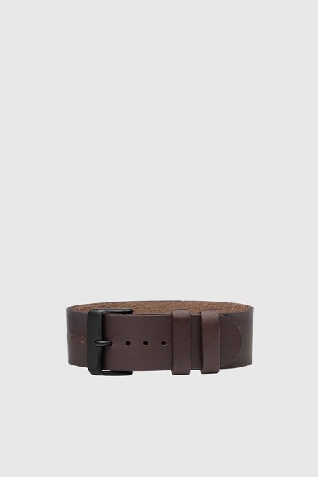 TID Watches Leather Wristband - Walnut/Black