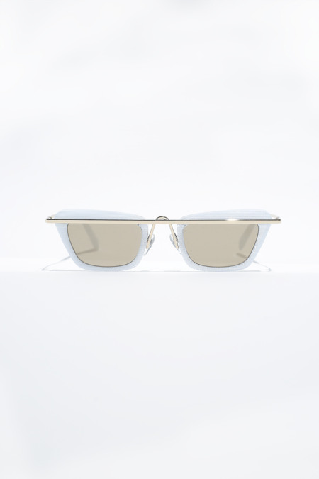 Alain Mikli Tres Mikli Sunglass - Pointille White/Gold/Taupe Flash Mirror