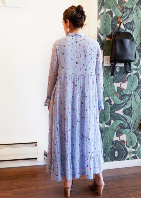 Ganni Dainty Georgette Dress - Serenity Blue