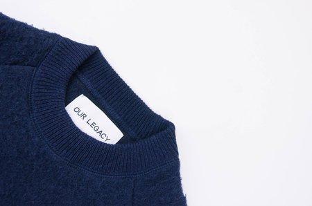 Our Legacy Raglan Knit Shaggy - Blue