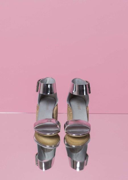 Marsèll Women's Sandalone Ankle Strap Sandal - mirror silver
