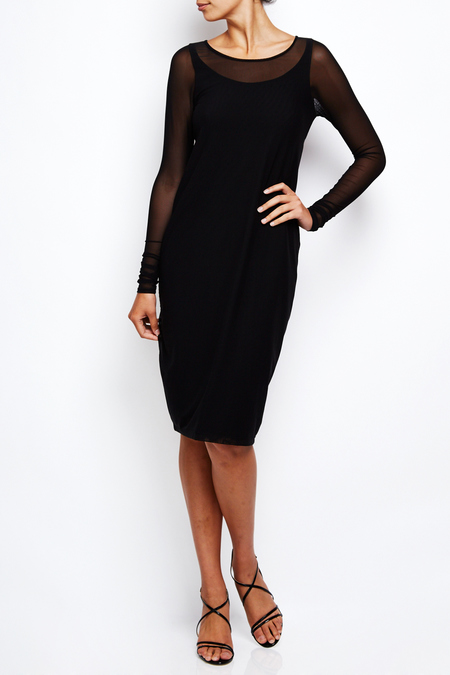 annette gortz technical stretch fabric dress - black