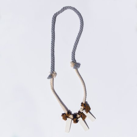 Lily Dawson Designs Cotton and Clay Necklace
