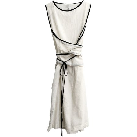 Uzi NYC Oxford Dress - CREAM/BLACK CONTRAST