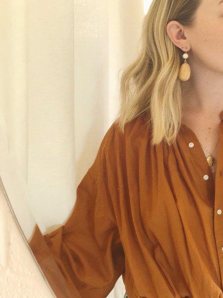 Sophie Monet Egg Earrings - Pearl