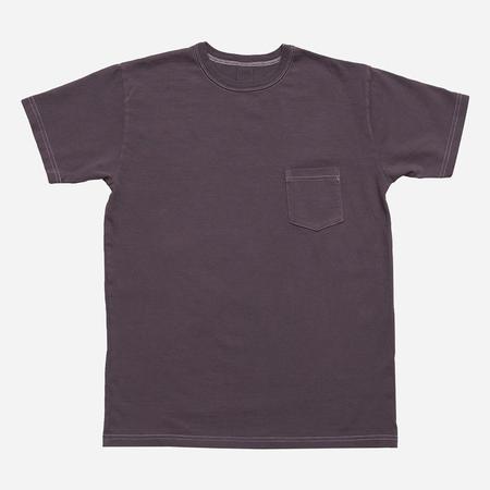 3Sixteen Garment Dyed Heavyweight Pocket T-Shirt - Purple