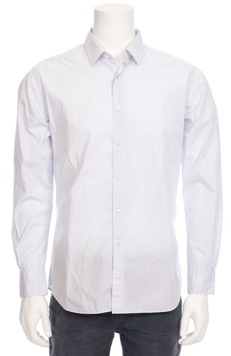 TODAY IS BEAUTIFUL / RON HERMAN Exclusive Mini Windowpane Dress Shirt - white