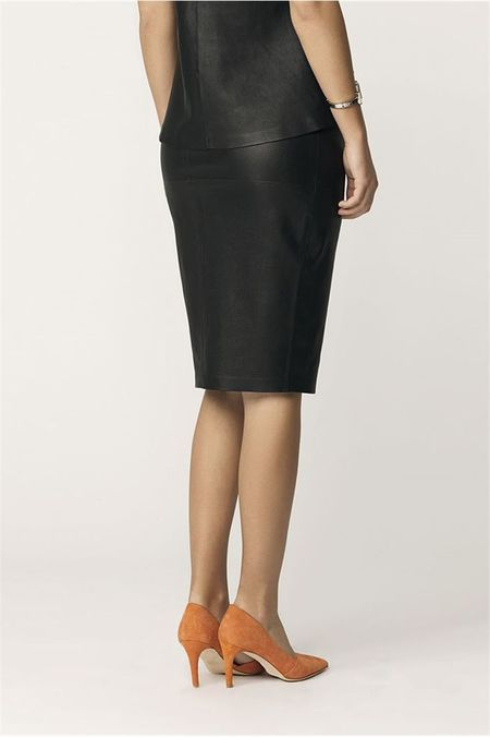 By Malene Birger Leather Pencil Skirt