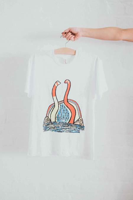 Dessert Designs Twin Snake Tee - White