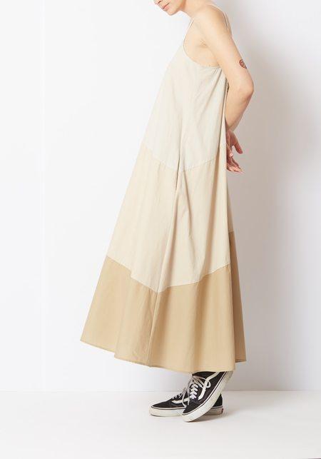 Veda Fiesta Dress - tan Stripe