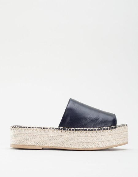 Vagabond Celeste Leather Espadrille - Black