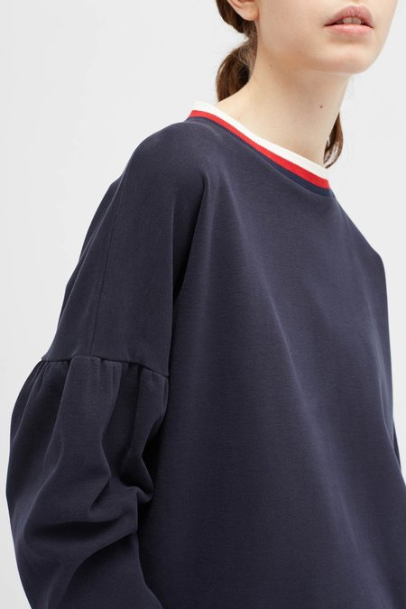 Chinti and Parker Tulip Sleeve Top - Navy
