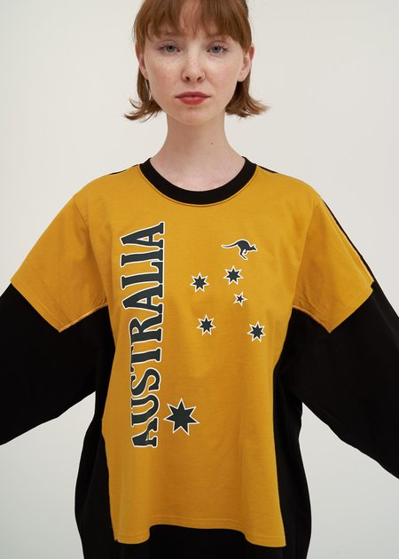 Doublet T-Shirt with Kids T-Shirt - black/yellow