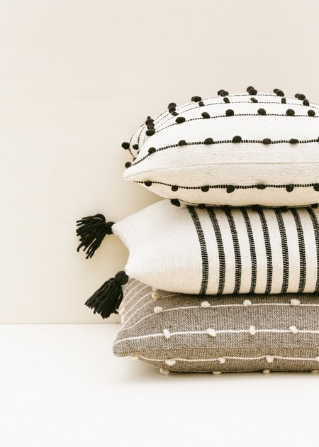 Territory Delgado Stripe Pillow - Black/white