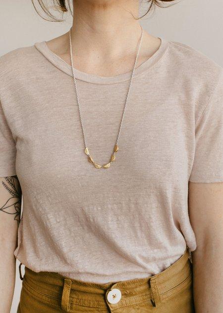 Takara Design Lunar Necklace - Grey/gold