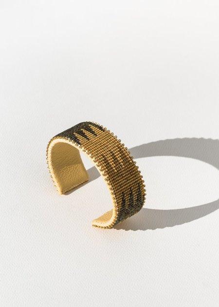 Etkie Phoenix Glass Cuff - gold/black/silver