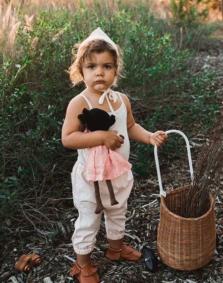 kids unisex Billie Blooms Organic Harem Pants - Blush