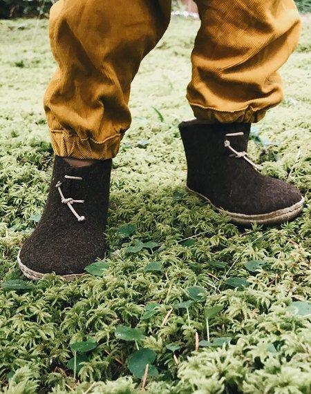 kids Glerups Wool Baby Boots - brown