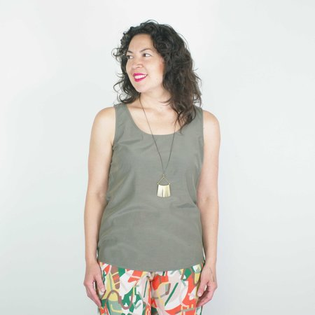 Atelier b. Camisole Blouse - Olive Green