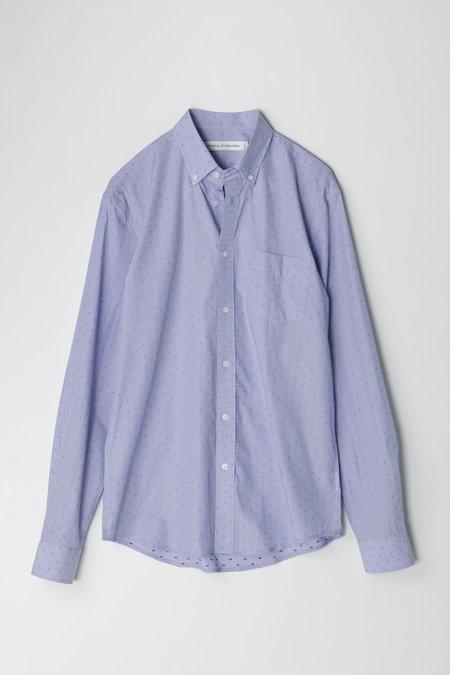 National Standards End On End Dot L/S Shirt - Blue