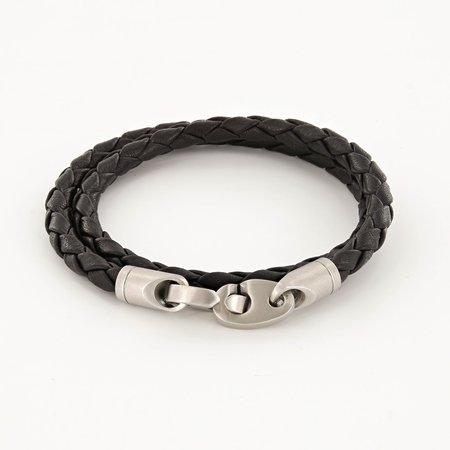 Sailormade Catch Leather Bracelet - Black