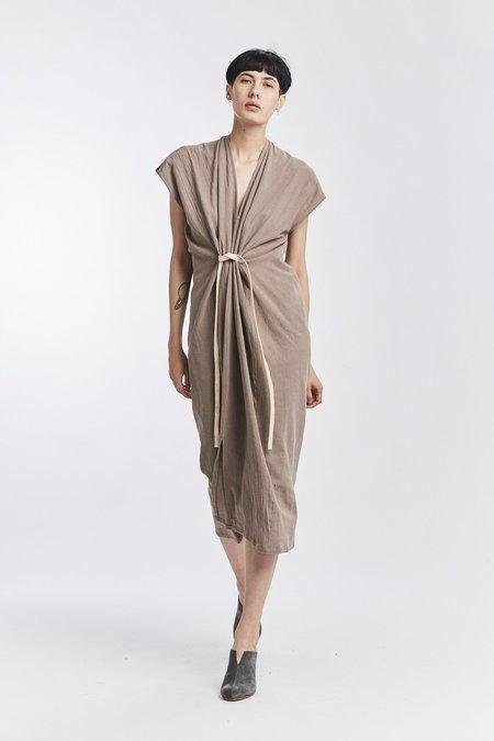 Miranda Bennett Textured Cotton Knot Dress - Faroe