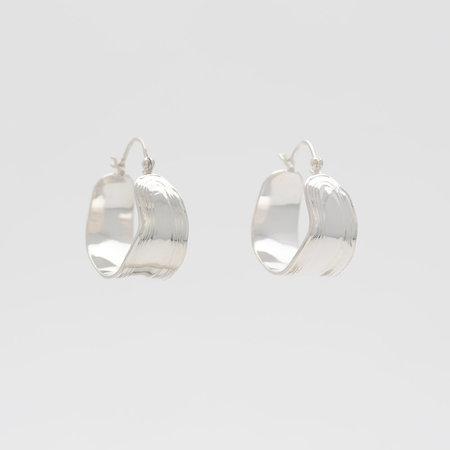 Leigh Miller Sterling Silver Wakame Hoops Earrings
