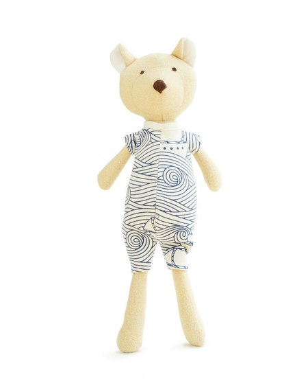 Kids Hazel Village Nicholas the Bear Cub Doll In High Seas Romper