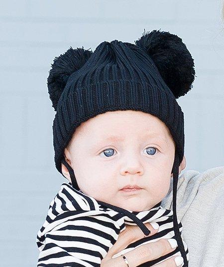 kids Mini Rodini Ear Hat - Black