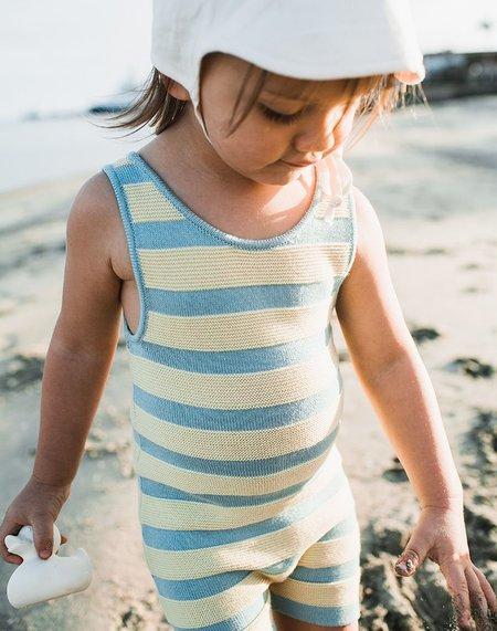 kids Misha & Puff Misha and Puff Boardwalk Bather - light blue/cream
